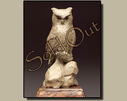 Screech Owl bronze sculpture